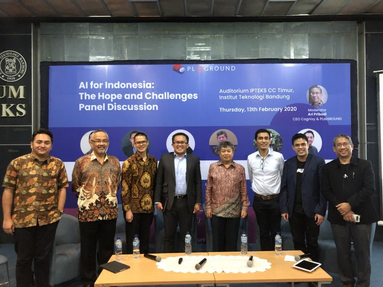 "13/02/2020, Panel Discussion with ""AI For Indonesia: The Hope and Challenges"""